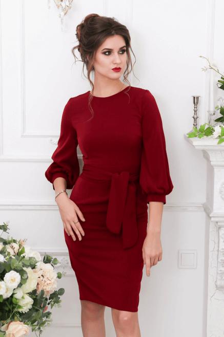Где Купить Бордовое Платье